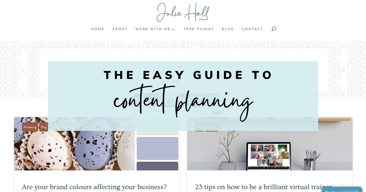 Easy guide to content planning